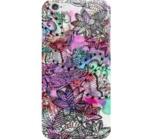 Modern colorful watercolor tangle floral pattern  iPhone Case/Skin