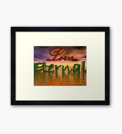 Love Eternal Framed Print