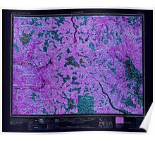 USGS Topo Map Washington State WA Concrete 240633 1958 250000 Inverted Poster