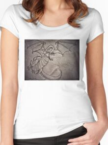 Dragon Sketch Women's Fitted Scoop T-Shirt