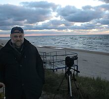 Me and Baltic sea at autumn by Antanas