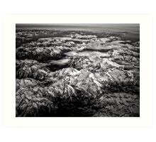 Over the Mountains, the Clouds Art Print