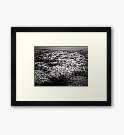 Over the Mountains, the Clouds Framed Print