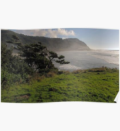 Just a light mist...Yachats Oregon Poster