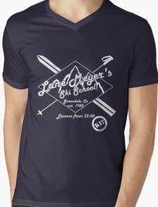 Lane Meyer Ski School Dark Mens V-Neck T-Shirt