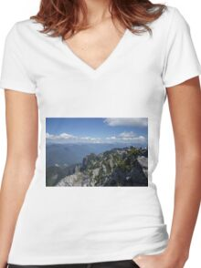 The Cascade Mountains Women's Fitted V-Neck T-Shirt