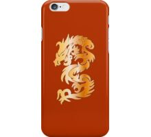 Golden Dragon on Chinese Red iPhone Case/Skin