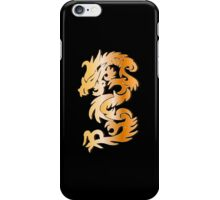 Golden Dragon on Black iPhone Case/Skin