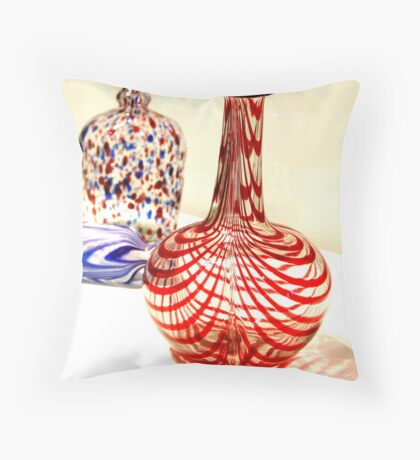 candy cane glass Throw Pillow
