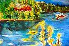 Paddling on Long Pond by Diane  Kramer