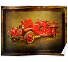 classic firetruck Poster