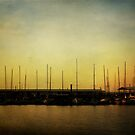 Sailboats and Sunrise by Lisa Holmgreen