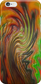 iPhone Case of painting....Marbled Maples.... by linmarie