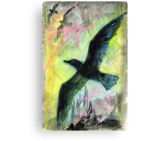 Birds soaring upwards Canvas Print