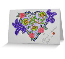 "Heart/5 - ""Home Is Where The Heart Is"" Saying Greeting Card"