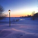 Lamp Post at Charlottetown Sunset Prince Edward Island by Nadine Staaf