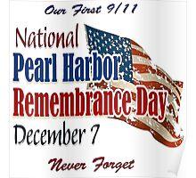 Pearl Harbor Day Memorial Poster
