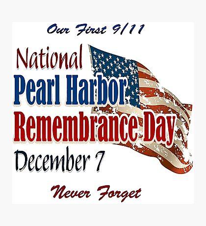 Pearl Harbor Day Memorial Photographic Print