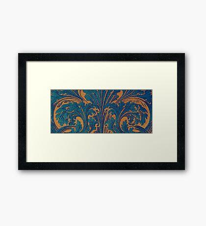 Woodcut Scroll Framed Print