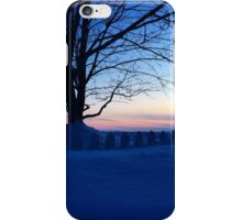 Snow Covered White Picket Fence in Charlottetown PEI iPhone Case/Skin