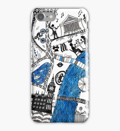 Along the river Thames iPhone Case/Skin