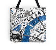 Along the river Thames Tote Bag