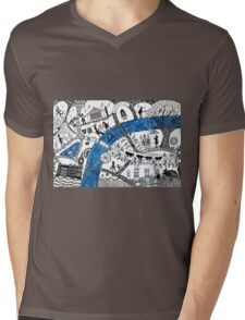 Along the river Thames Mens V-Neck T-Shirt