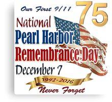75th Anniversary of Pearl Harbor Metal Print