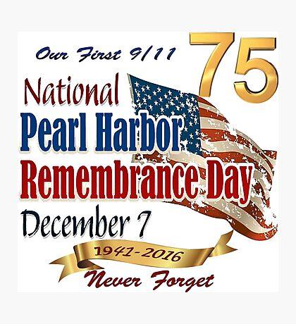75th Anniversary of Pearl Harbor Photographic Print