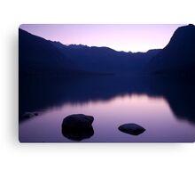 Lake Bohinj sunset Canvas Print