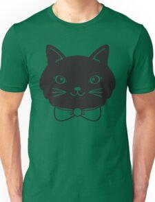 Cool Black Kitty Cat Face Unisex T-Shirt