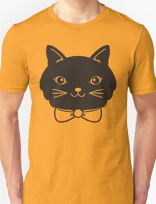 Cool Black Kitty Cat Face T-Shirt