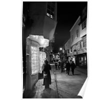 Night Shopping In York Poster