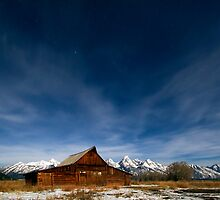 Full Moon Light & Stars Shining over Mormon Row by A.M. Ruttle