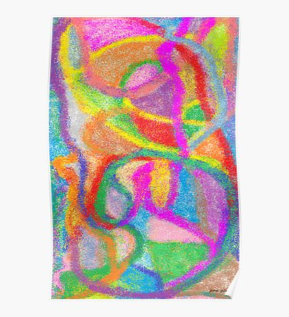 Psychedelic Embryo Poster