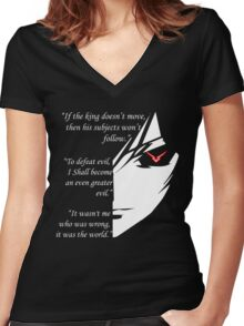 The Testamennt of Lelouch Vi Britannia Part 1 Women's Fitted V-Neck T-Shirt