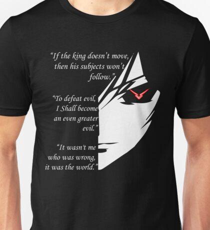 The Testamennt of Lelouch Vi Britannia Part 1 Unisex T-Shirt