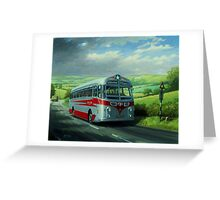 Silver Star Tiger coach Greeting Card