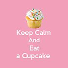 Keep Calm &amp; Eat a Cupcake ( Pink iPhone Case ) by PopCultFanatics