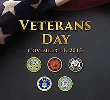 Veterans Day 2015 Official Poster by Spacestuffplus