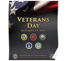 Veterans Day 2015 Official Poster Poster