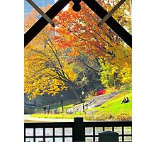 Boathouse view, Central Park Photographic Print
