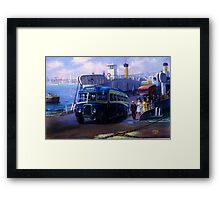 Royal Blue Bristol at Torpoint ferry. Framed Print
