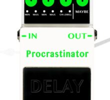 'The Procrastinator' Effects Pedal  - T Shirt Sticker