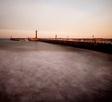 Whitby - slow shutter seascape by PaulBradley