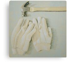 """Hammer & gloves"" Canvas Print"