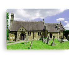 St Katherine's Church at Rowsley, Derbyshire Canvas Print