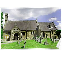 St Katherine's Church at Rowsley, Derbyshire Poster