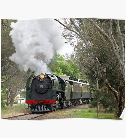 621 Steaming through Mount Barker Poster