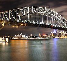 Sydney Harbour Bridge at Night by Craig Oatway